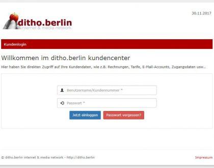 Unser Kundencenter jetzt auf ditho.berlin