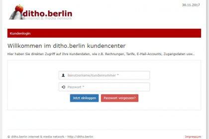 Downloadproblem im ditho.berlin Kundencenter behoben