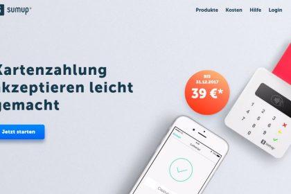 Kartenzahlungen überall mobil erhalten mit SumUp