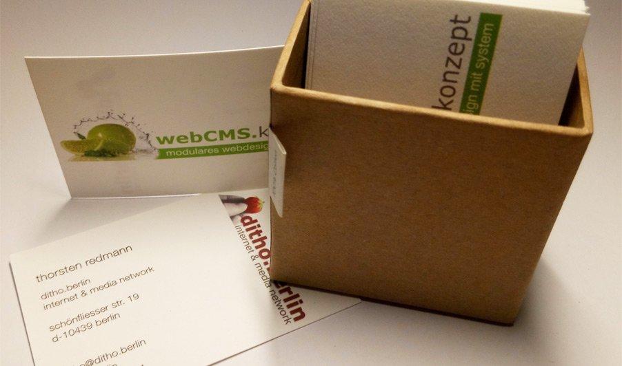 Visitenkarten Aus 100 Recyceltem Baumwollstoff