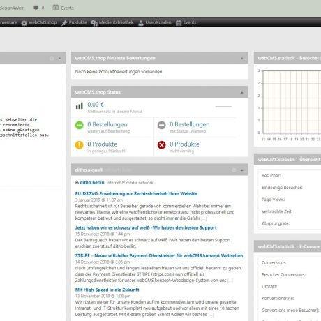 Die neue administrative Oberfläche der webCMS.verwaltung